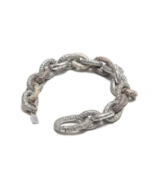 KMO Paris Gümüş - Bej Bileklik