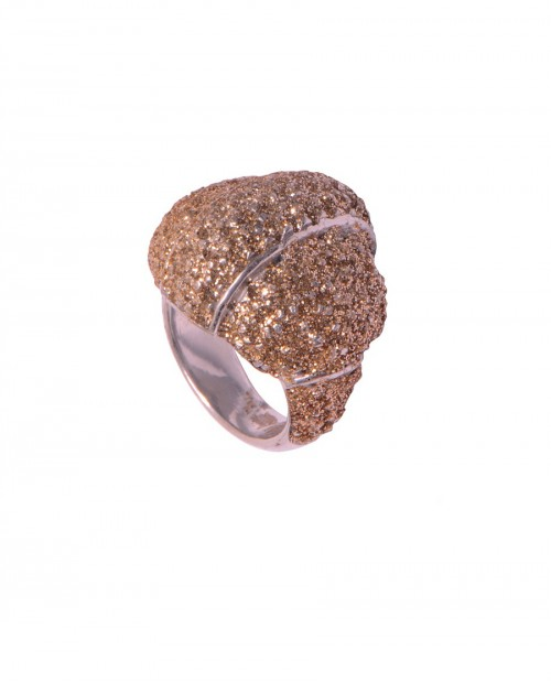 KMO Paris Gümüş Gold Gümüştozu Yüzük