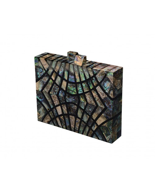 Nathalie Trad Ferris - Paua Blue X Black Resin Clutch