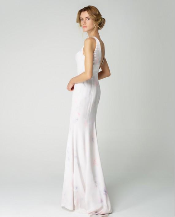 Atelier 55 Yeni Sezon Pudra Çiçekli Elbise