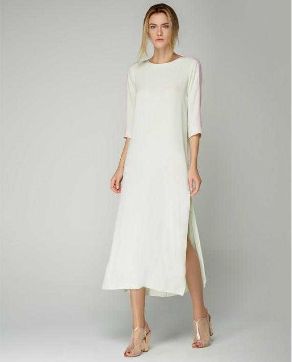 Atelier 55 Yeni Sezon Yeşil Pembe Elbise