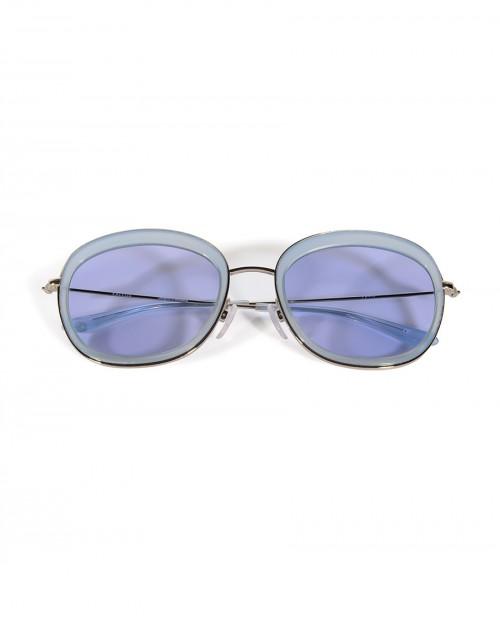 Mavi Metal Saplı Gözlük