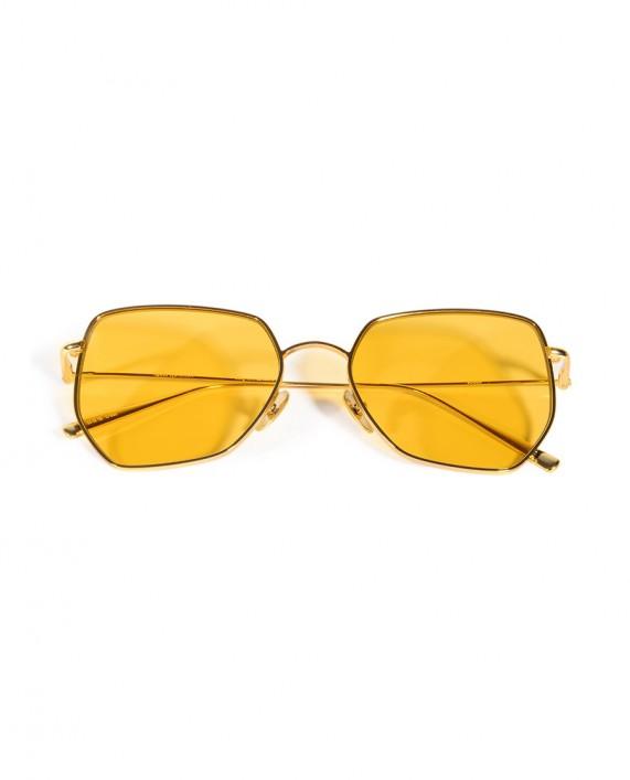 Sarı Cam Metal Gözlük